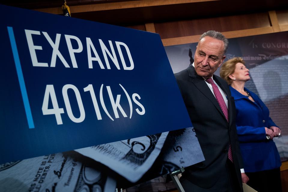 Democratic Senators Unveil Plan Tax Plan To Increase 401k Retirement Plan Opportunities