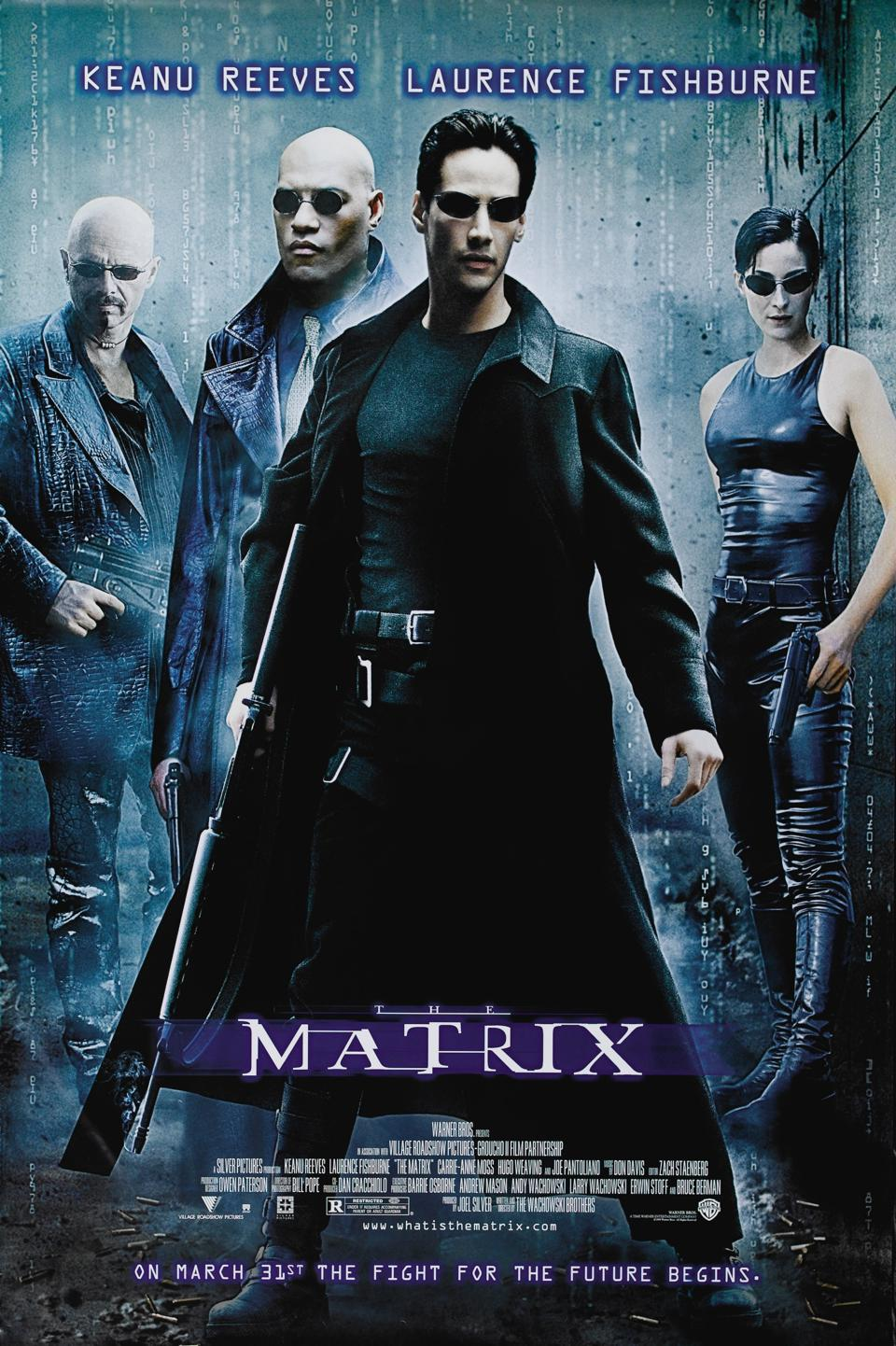 Official poster for Warner's ″The Matrix″