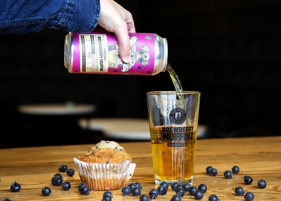 Collab bière, Evil Genius, Sheetz, bière muffin aux bleuets
