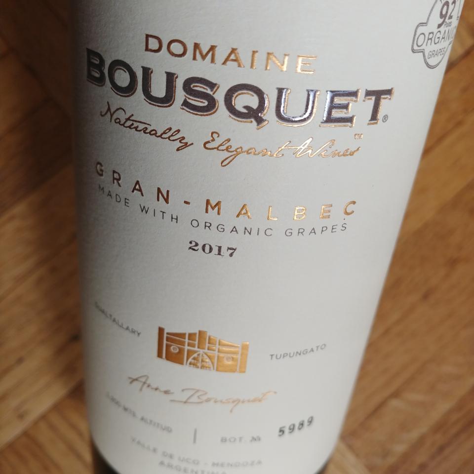 2017 Domaine Bousquet Gran Malbec
