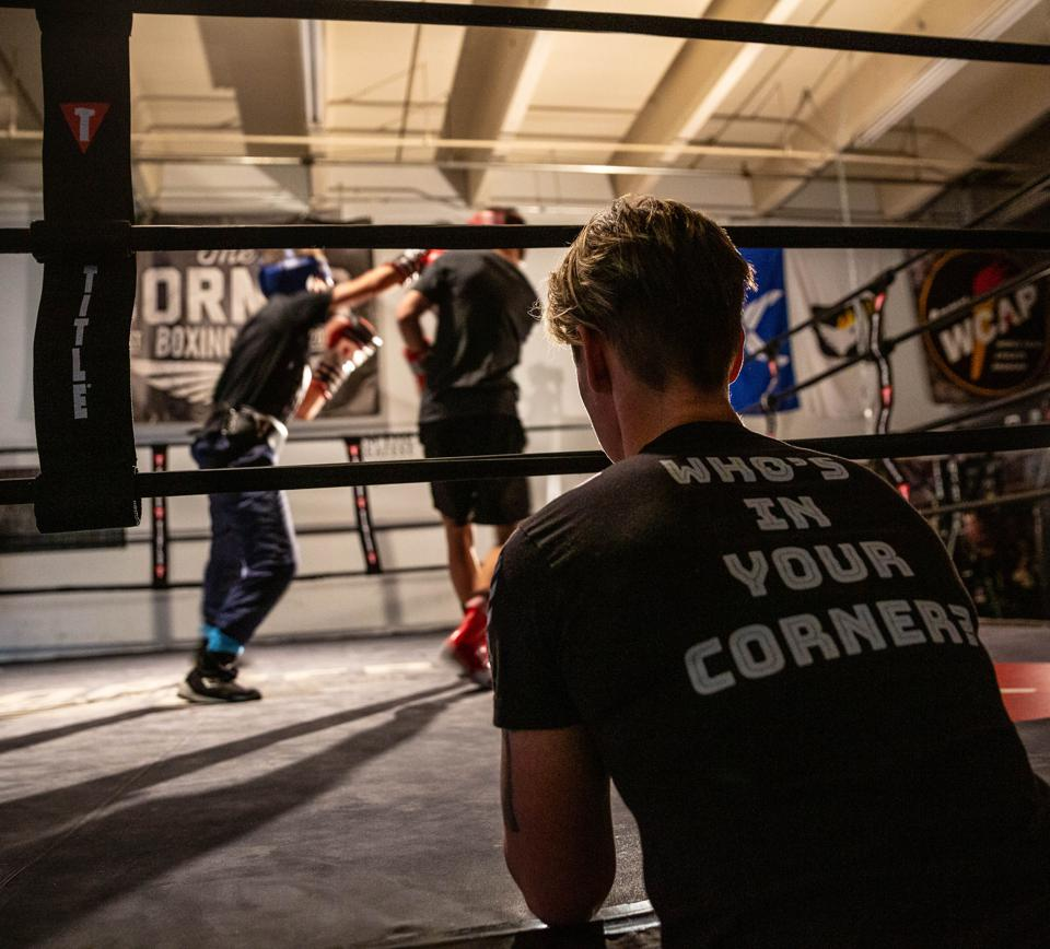 Carrie Barry, co-owner of the Corner Boxing Club