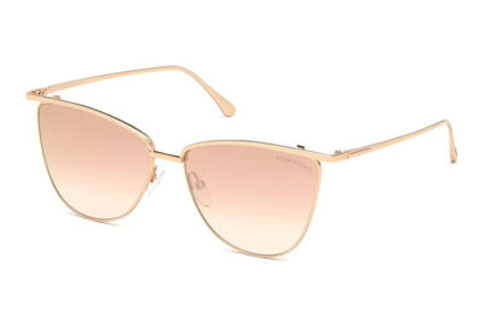 TOM FORD Gold Mirrored Metal Sunglasses