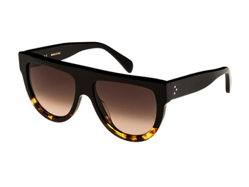 CELINE Two Tone Shield Sunglasses