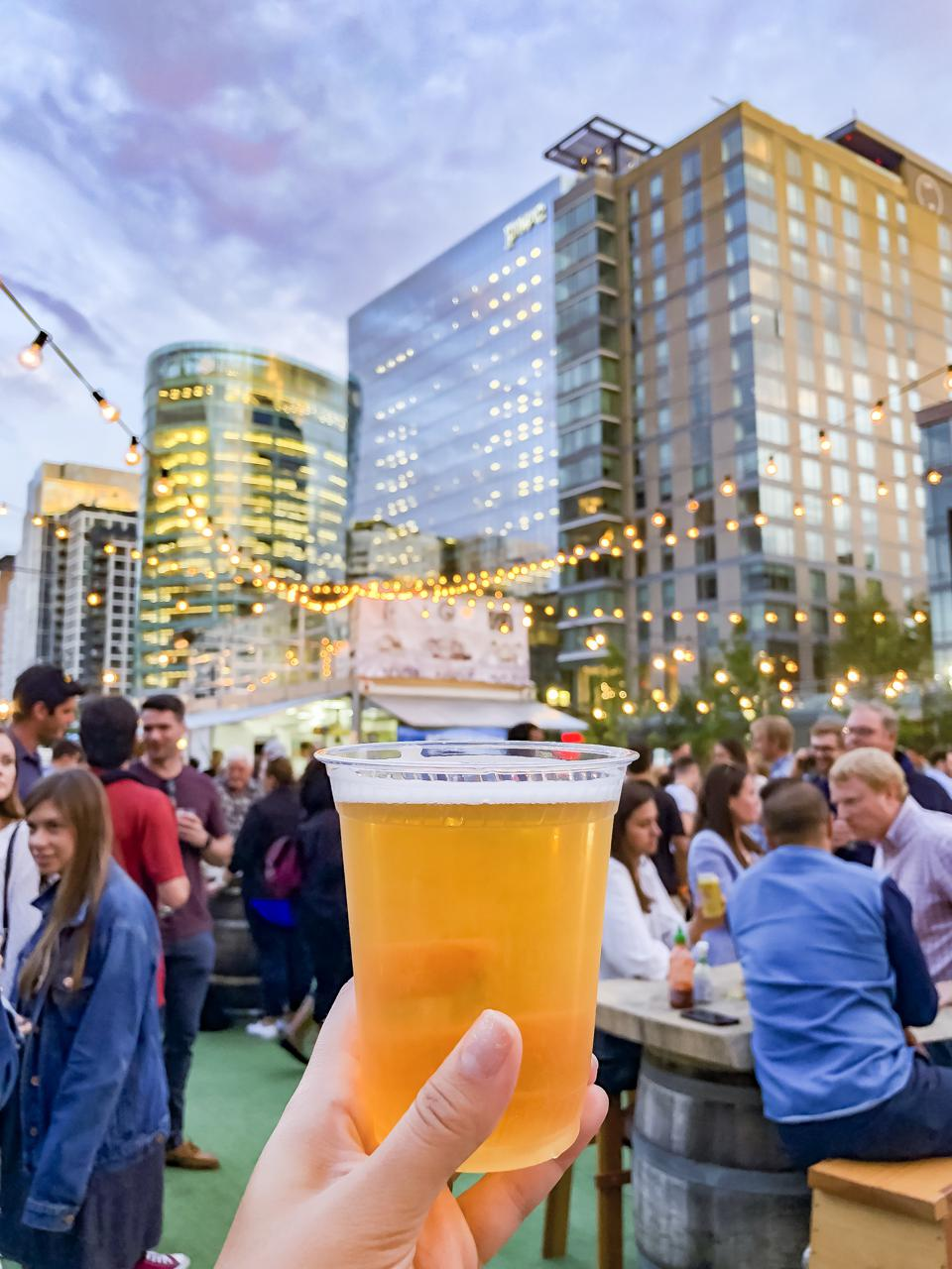 BOSTON, MA - Cisco Brewers Seaport Beer Garden