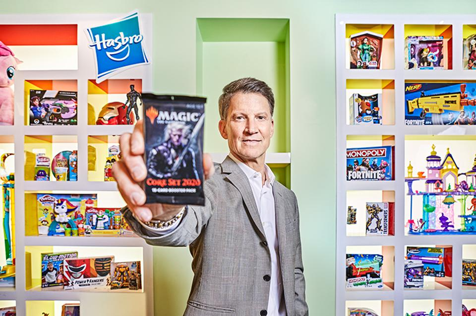 Brian Goldner's Hasbro now manufactures stories, not just Monopoly boards and G.I. Joes. That's why it's trouncing the competition—and just spent $4 billion on a pig named Peppa.