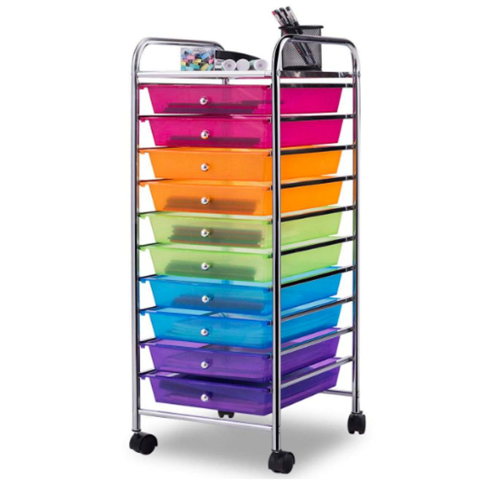Giantex 10-Drawer Rolling Storage Cart