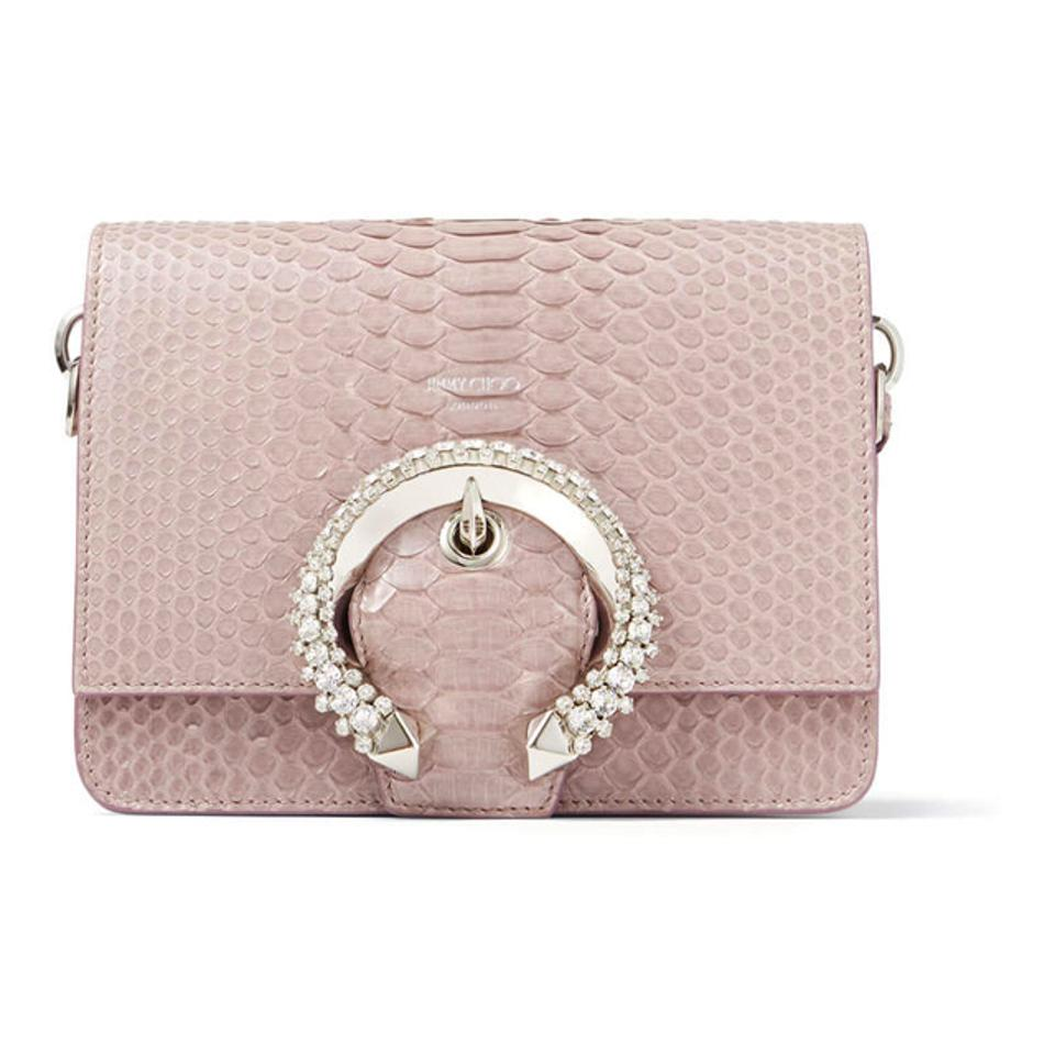 Jimmy Choo Mauve Snakeskin Shoulder Bag