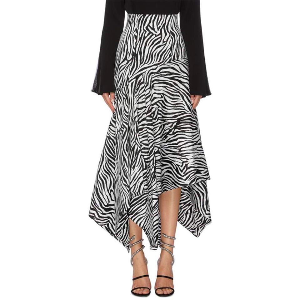 Solace London Lonnie Skirt in Zebra Print
