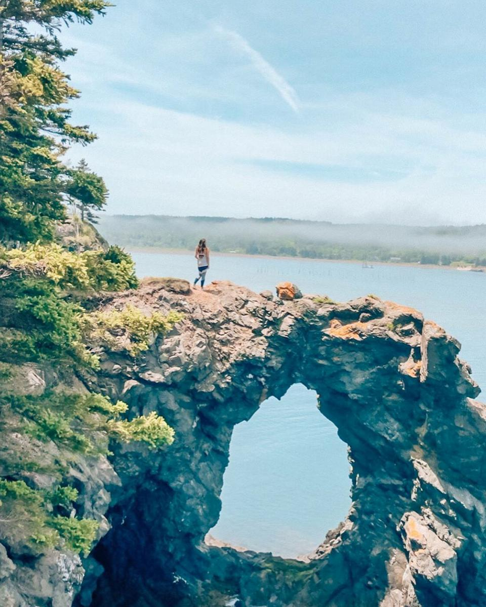 Grand Manan, Canada - Blogger, Caroline Quincy at Hole in the Wall Park in New Brunswick