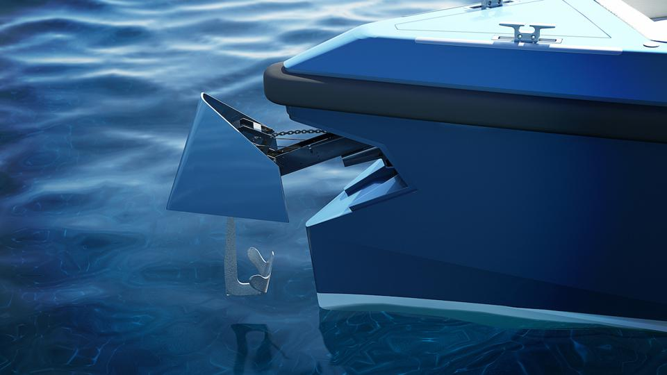 The Wallytender's innovative anchoring system.