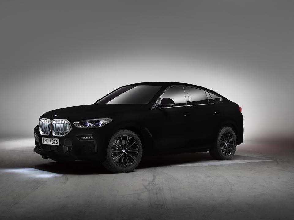 The BMW X6 is the world's first car to be painted with vantablack.