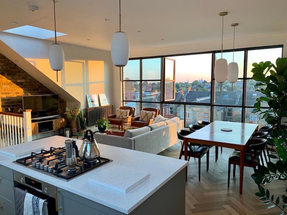 A vintage meets modern London flat