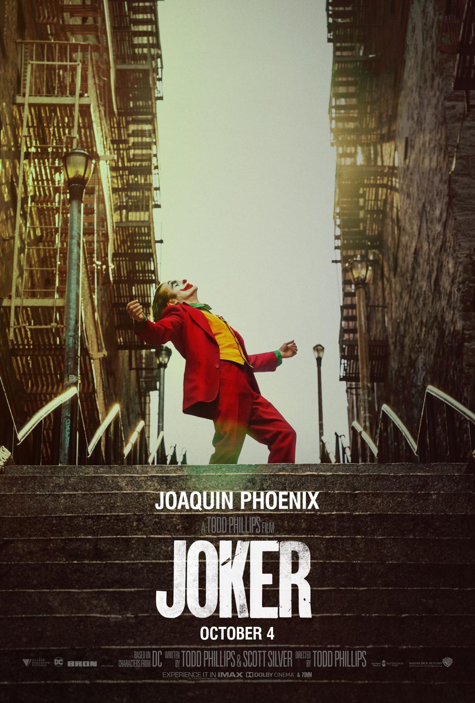 Official poster for Warner's ″Joker″