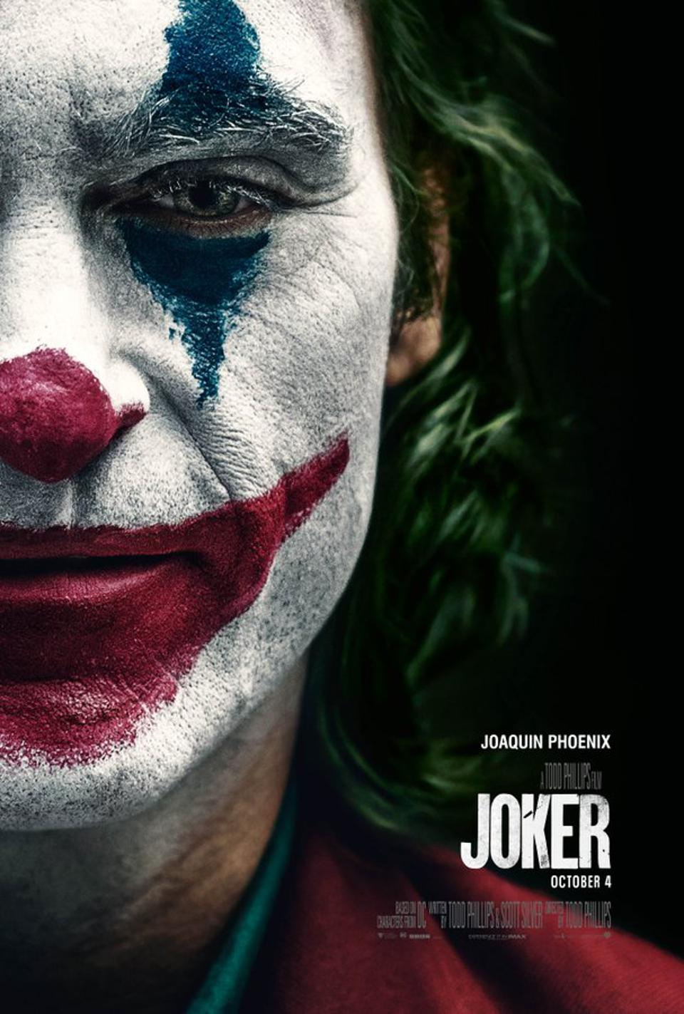 Official poster for Warner's ″The Joker″