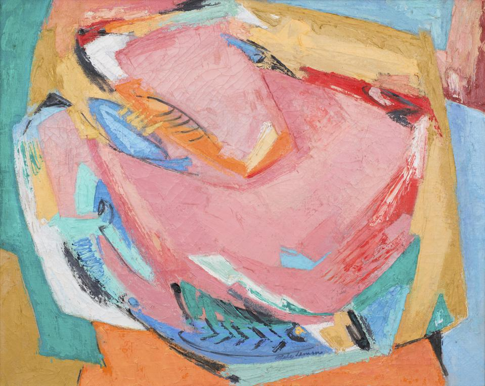 Adele Marion Gawin Lemm (1897-1977), Untitled, circa 1965. Oil on linen.