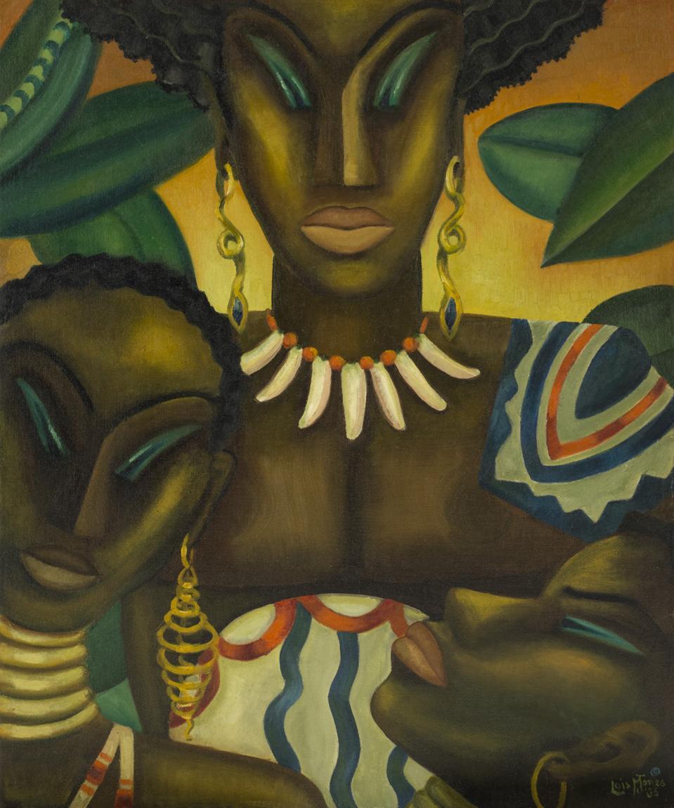 Loïs Mailou Jones (1905-1998), Africa, 1935. Oil on canvas board.