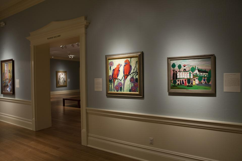 Installation photo, 'Central to Their Lives: Southern Women Artists in the Johnson Collection' at The Dixon Gallery and Gardens.