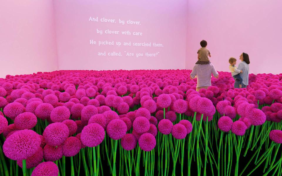 The immersive exhibit covers the work of Dr. Seuss