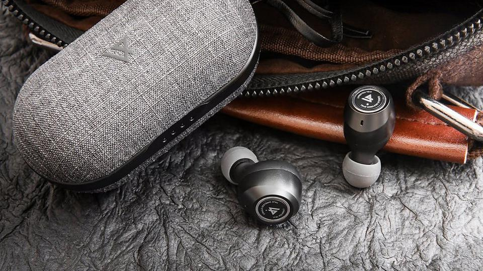 TEVI earphones and case