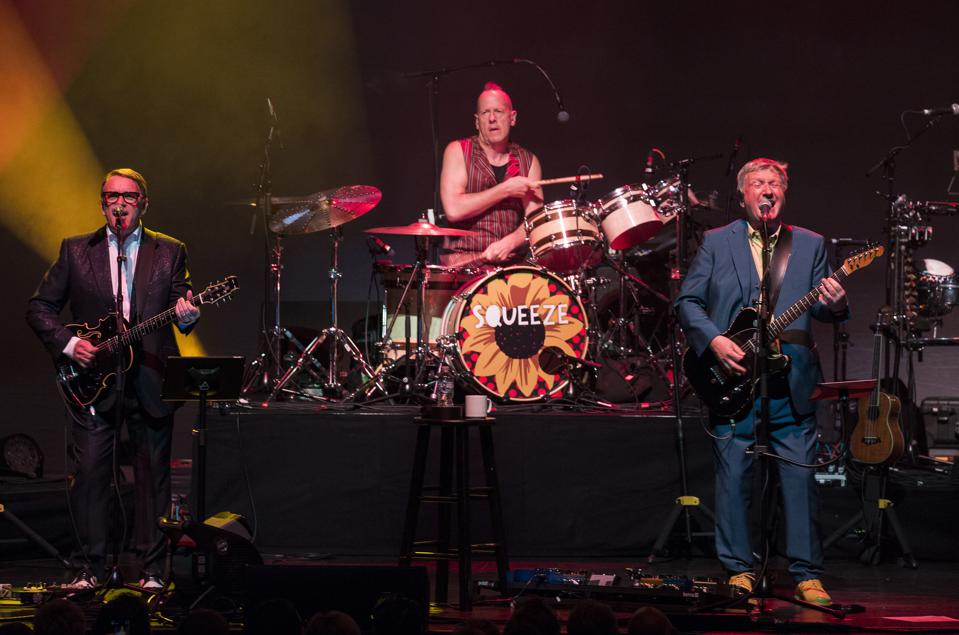 Squeeze performs on stage at the Chicago Theatre. Saturday, August 31, 2019 (Photo by Barry Brecheisen)