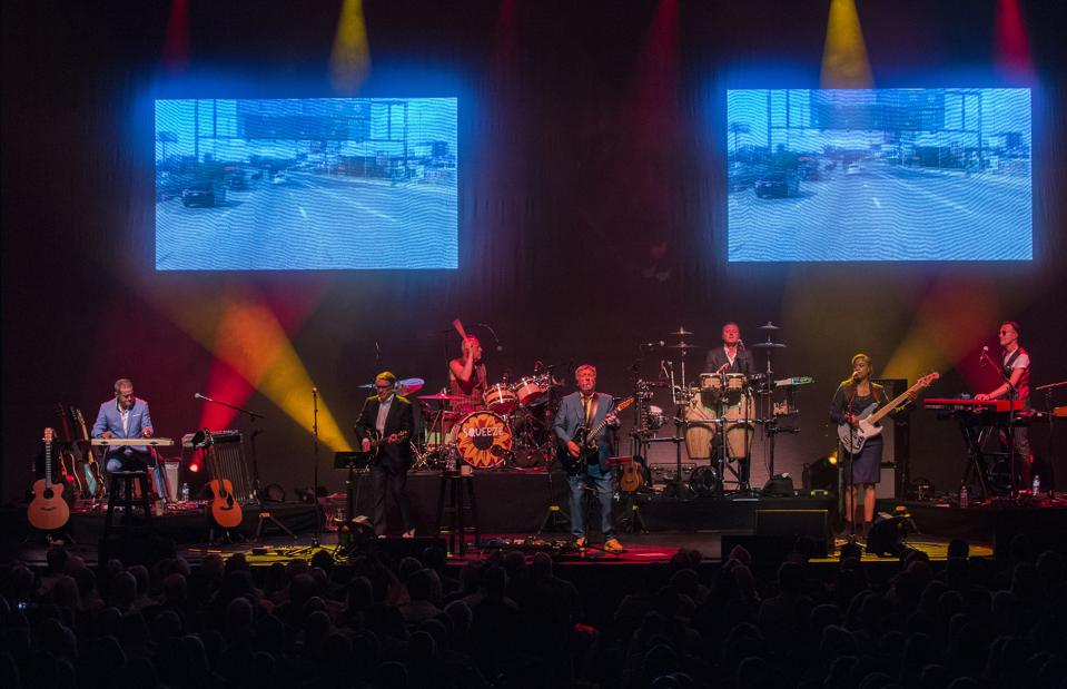 Squeeze performs on stage at Chicago Theatre. Saturday, August 31, 2019