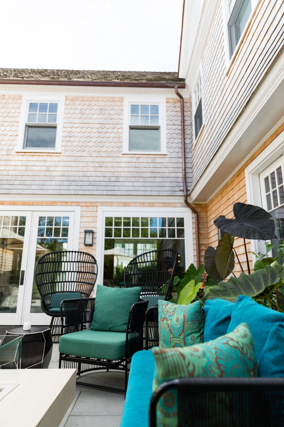 EDGARTOWN, MA - View from the courtyard at the Sydney Hotel