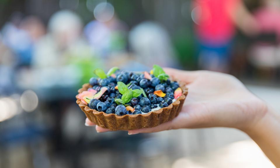 EDGARTOWN, MA - The Summer Fruit Tart from Chef Georgia Macon at Behind the Bookstore on Martha's Vineyard