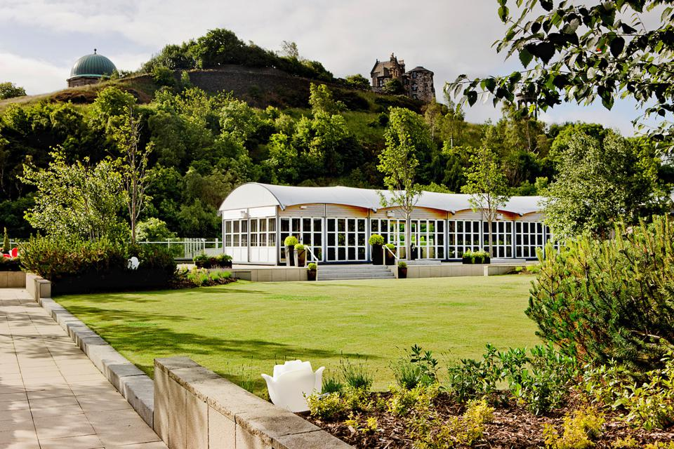 The Glasshouse Hotel roof garden.