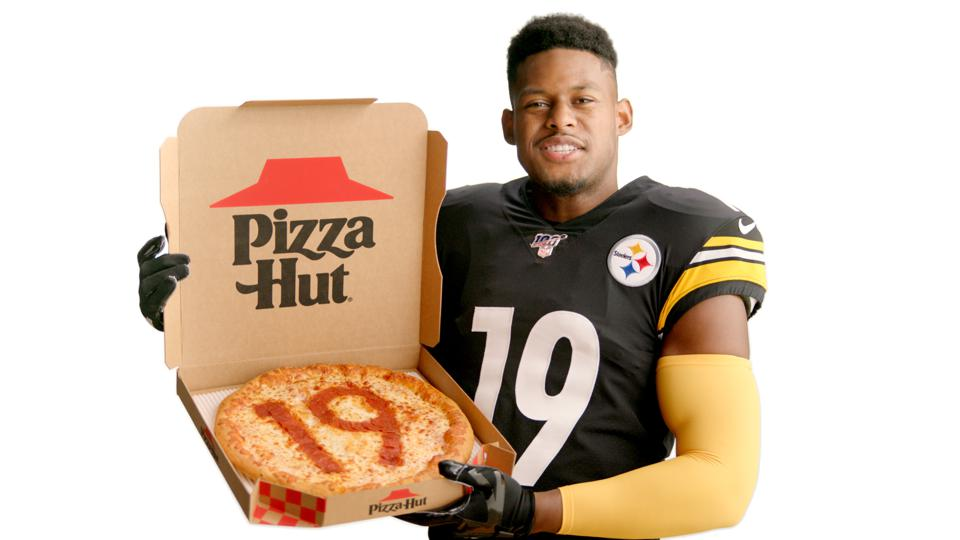JuJu Smith-Schuster is part of Pizza Hut's NFL campaign.
