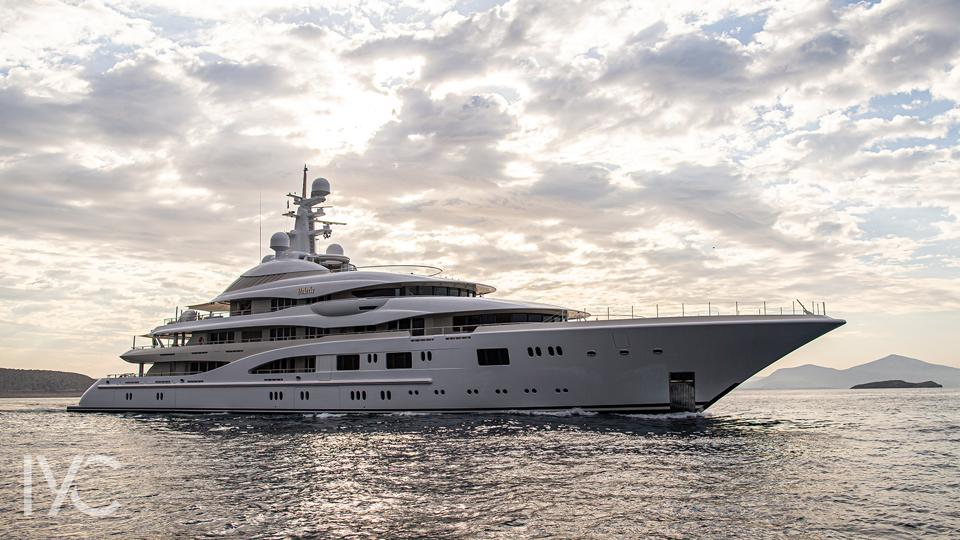 The iconic, 280-foot-long Valerie will be at the Monaco Yacht Show.