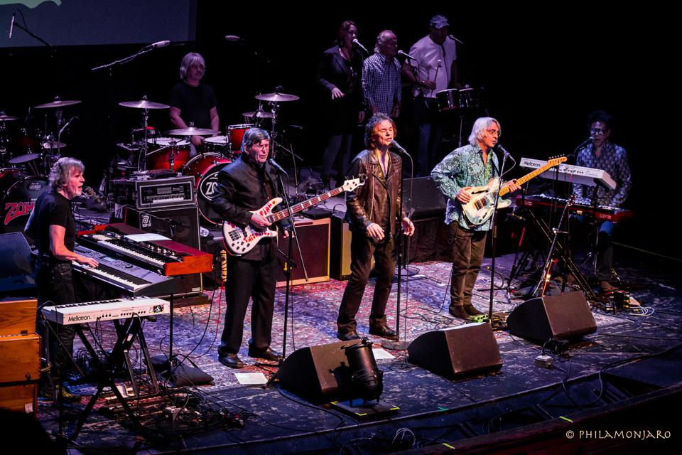 The Zombies perform their landmark album Odessey and Oracle as a 9-piece group with Darian Sahanaja. April 13, 2017 at Thalia Hall in Chicago (Photo by Philamonjaro Studio)