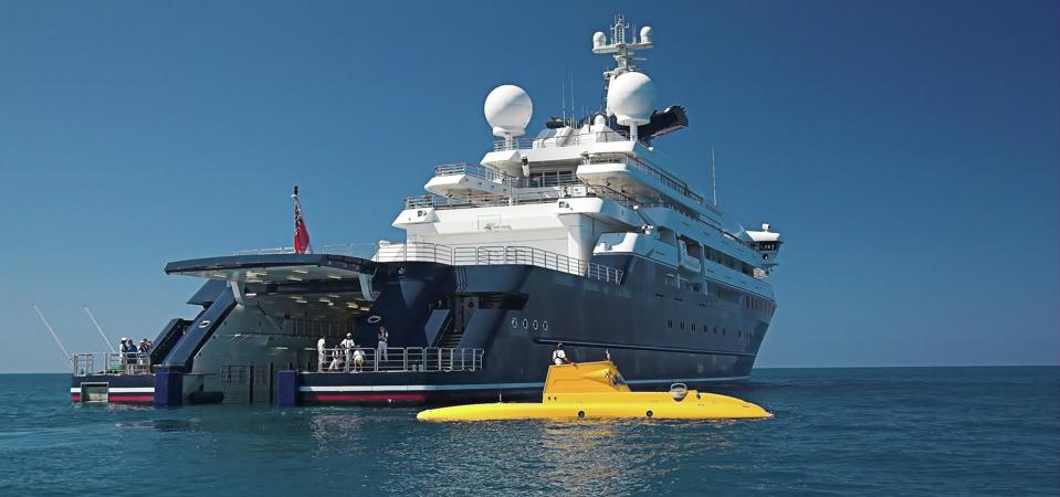 Paul Allen's 414-foot long superyacht
