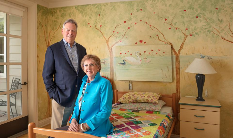 Kathy Hull, Psy.D., founder and board president of George Mark Children's House, and Bill Gisvold, board member