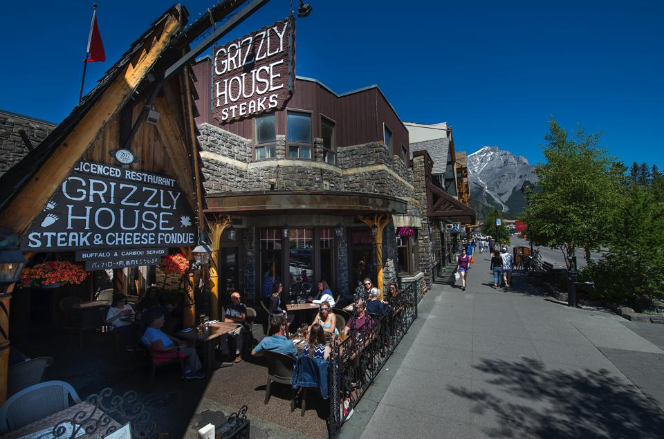 Exterior of The Grizzly House