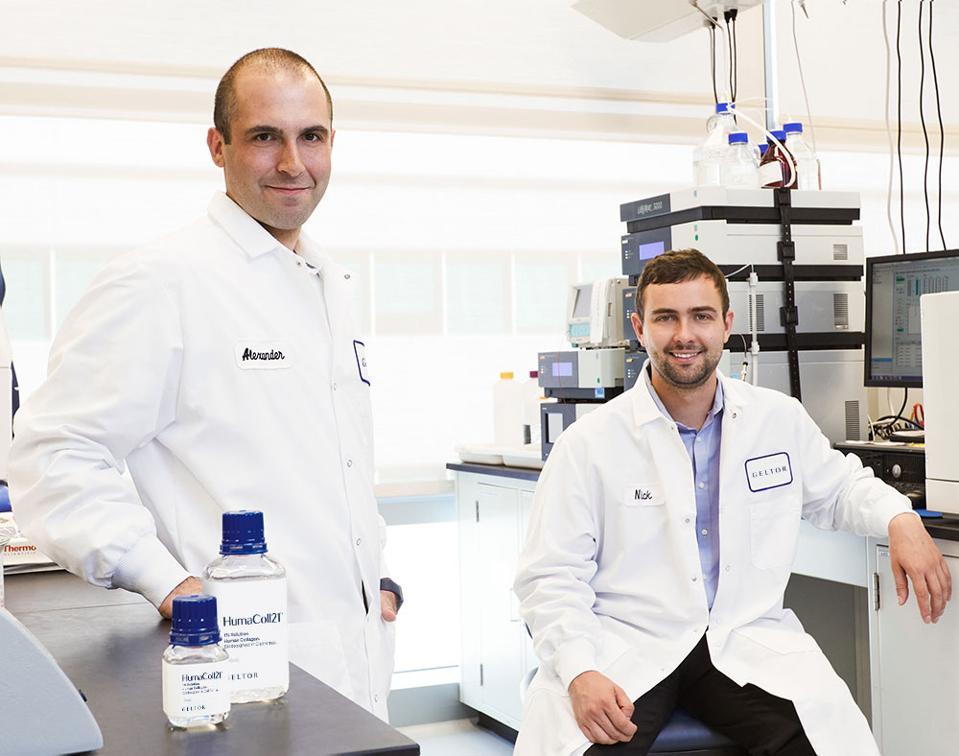 Two scientific innovators in the lab