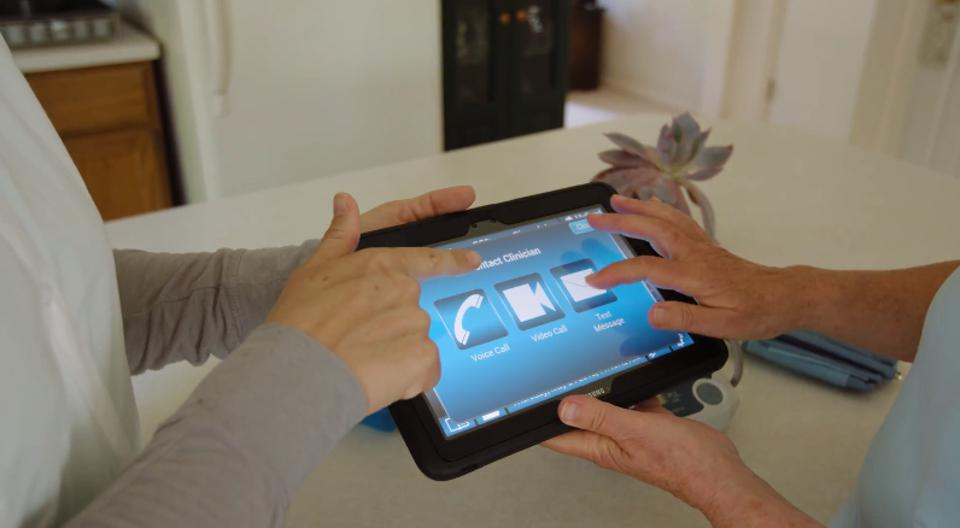 Healthcare Recovery Solution's tablet interface
