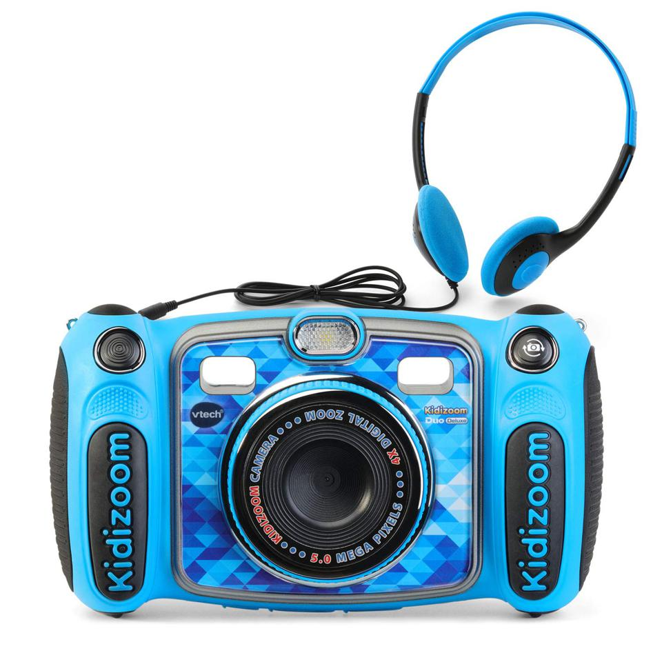 The Vtech Kidizoom Duo 5.0 combines a perfect camera for first-time photogs with the fun of an MP3 player.