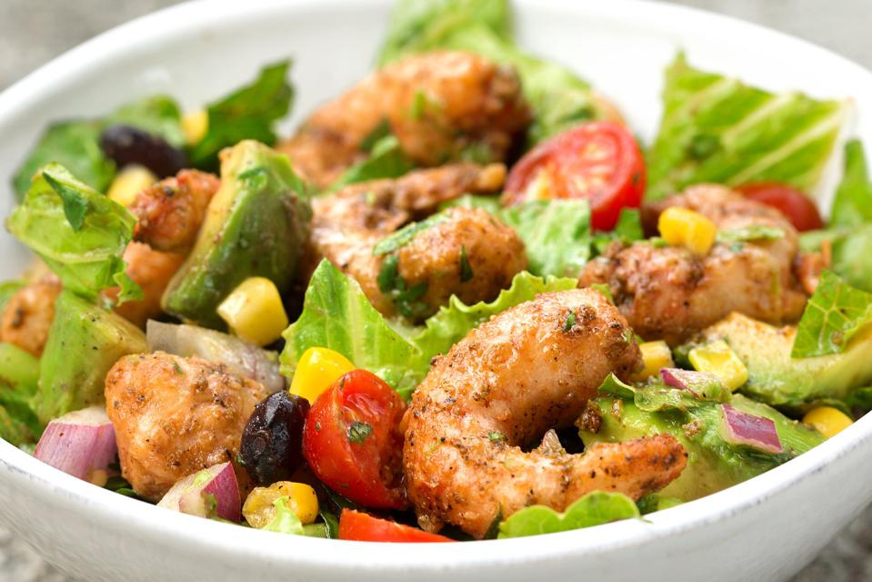 New Wave shrimp in a salad