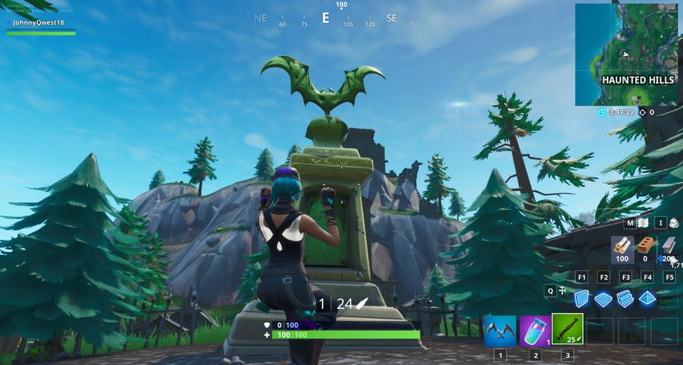 where is the bat statue in fortnite battle royale