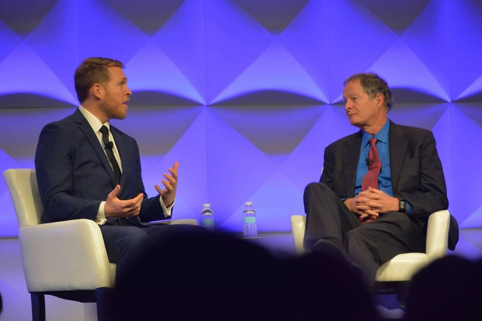 Alexander McCobin, CEO of Conscious Capitalism (left) with John Mackey,  Co-Founder of Conscious Capitalism and Whole Foods.