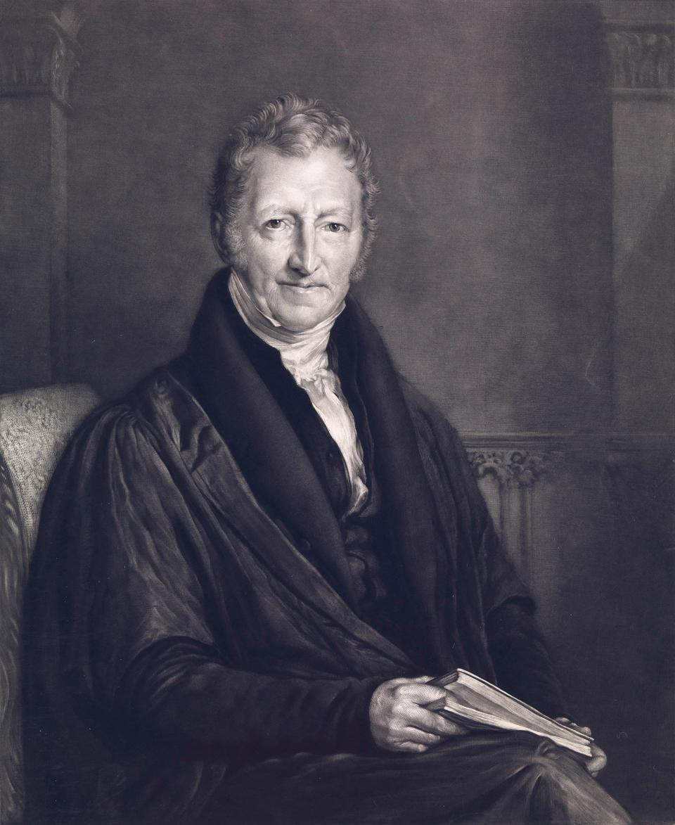 Malthus, originator of the Malthusian Trap or Malthusian Catastrophe.