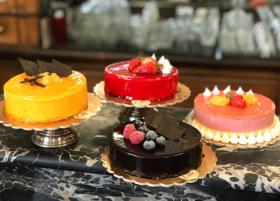 Delicious cakes.