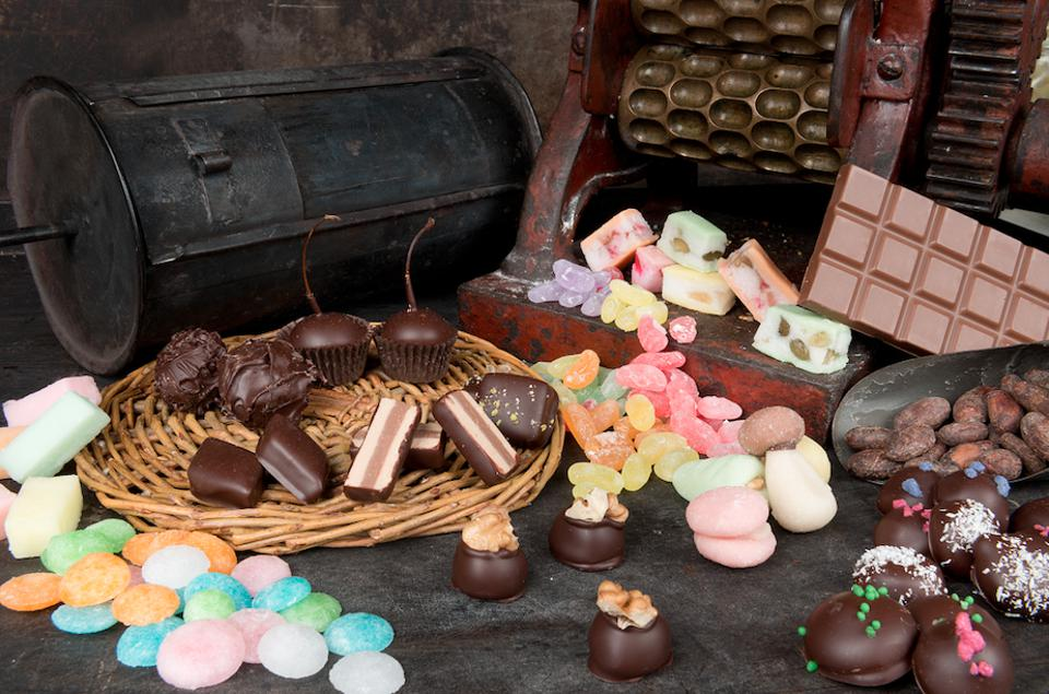 A selection of chocolates.
