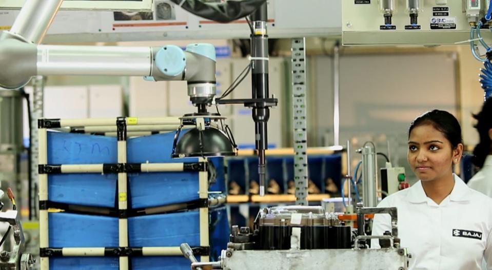 Collaborative robots at Bajaj Auto in india
