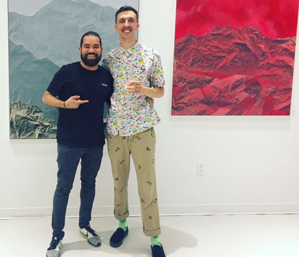 Curator Ché Morales and artist Pajtim Osmanaj at The Yard, Herald Square
