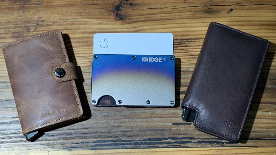 Dresin Slim Card Holder Minimalist Leather Front Pocket Wallet for Men Money Clip Slim Wallets Black ID Credit Card Holder