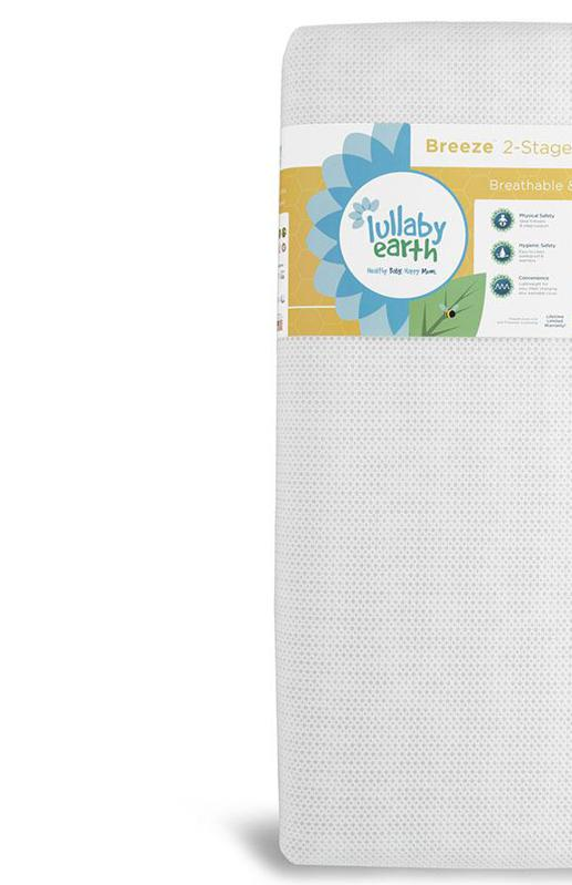 Lullaby Earth Breathable Crib Mattress 2-Stage