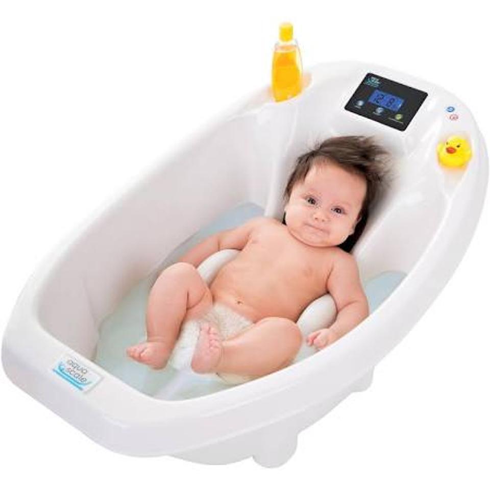 Aquascale Digital Scale & Thermometer 3-in-1 Infant Bath Tub