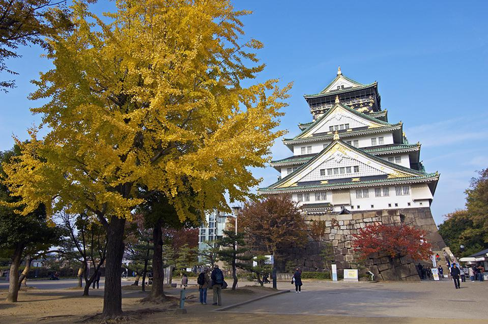Osaka Castle in Fall