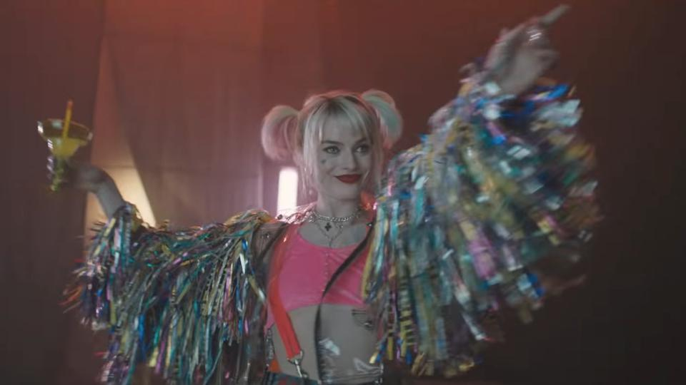 YouTube screenshot from the first (legally online, natch) 'Birds of Prey' teaser trailer
